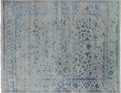 Contemporary Wool & Silk Persian Area Rug