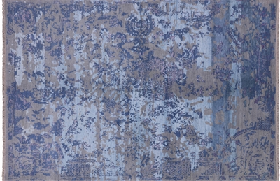 Persian Wool & Silk Contemporary Rug