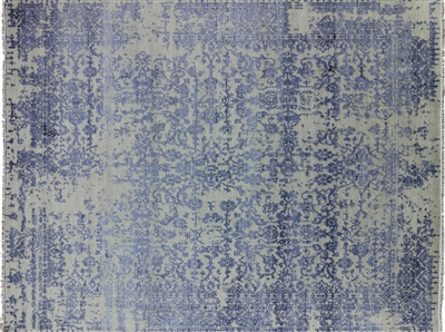 Wool & Silk Hand-Knotted Oriental Rug