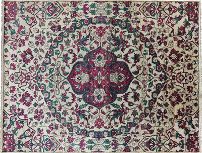 Persian Pure Silk Modern Hand Knotted Rug