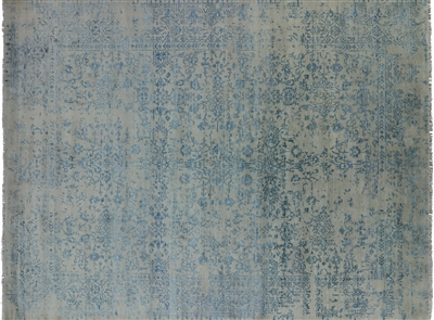 Hand Knotted Wool & Silk Modern Area Rug