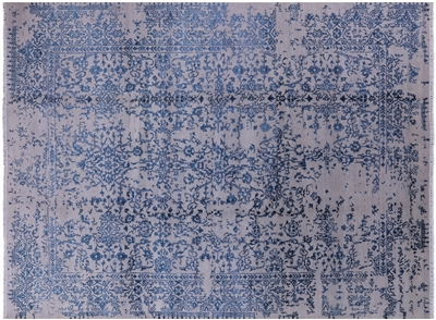Persian Wool & Silk Hand Knotted Contemporary Rug