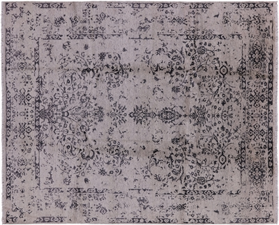 Wool & Silk Modern Area Rug