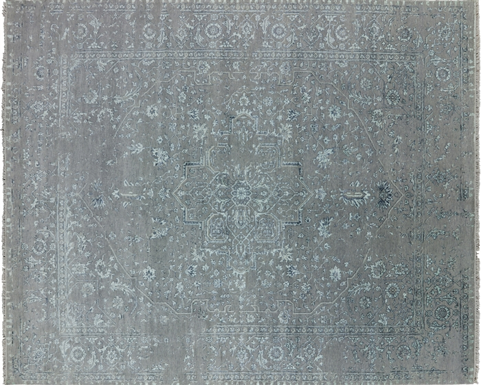 Fine Serapi Hand Knotted Wool & Silk Area Rug