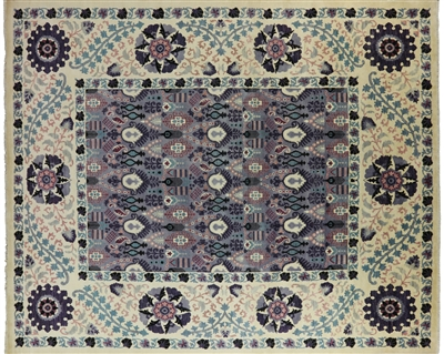 Hand Knotted William Morris Oriental Rug