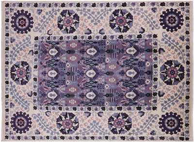 Suzani Hand Knotted Oriental Area Rug