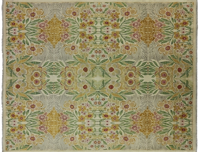 Handmade William Morris Wool Area Rug
