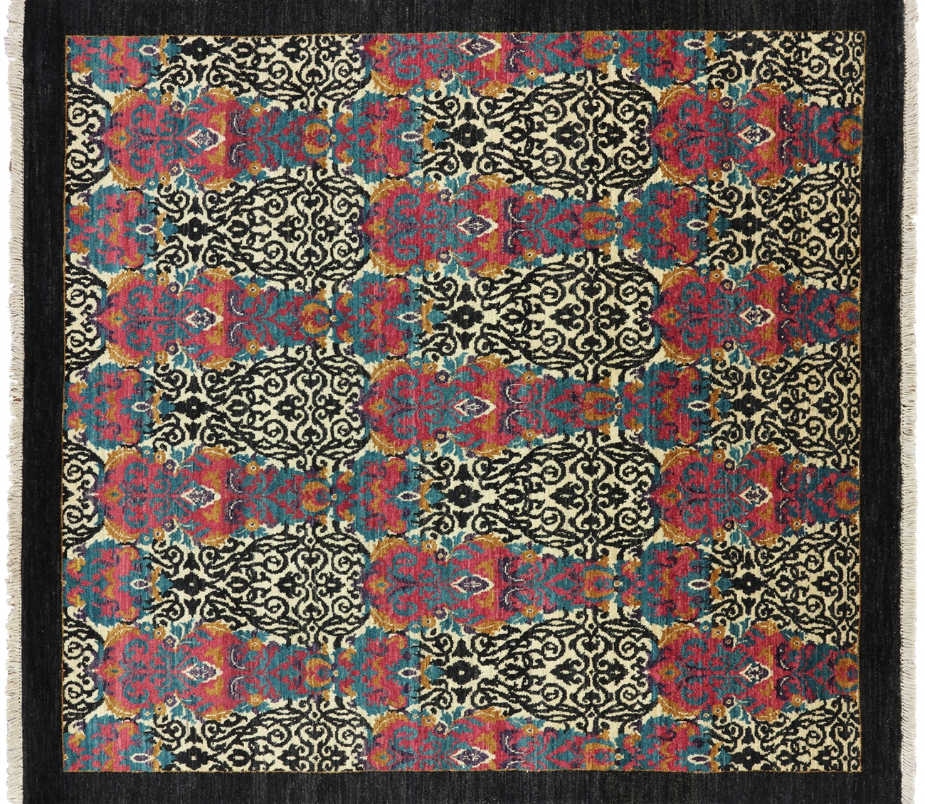 square hand knotted wool modern oriental rug. ' square hand knotted wool modern oriental rug