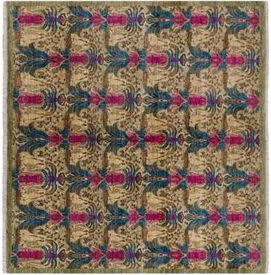 William Morris Design Square Area Rug