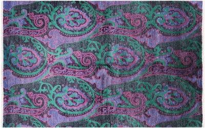 Persian Paisley Hand Knotted Rug