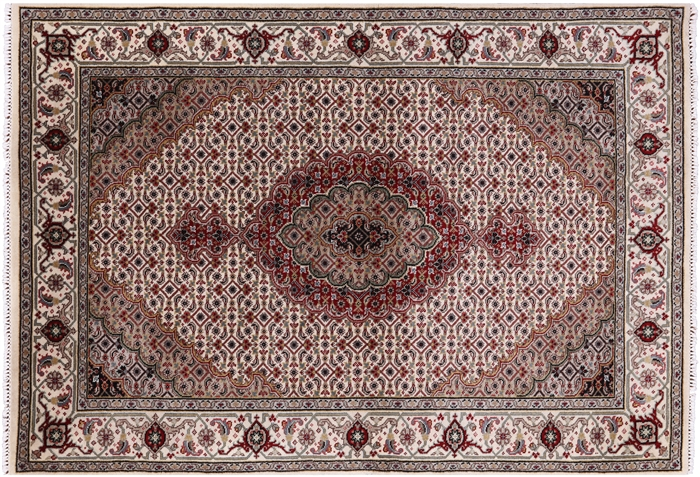Wool & Silk Hand Knotted Tabriz Area Rug