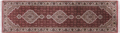 Tabriz Wool & Silk Runner Rug