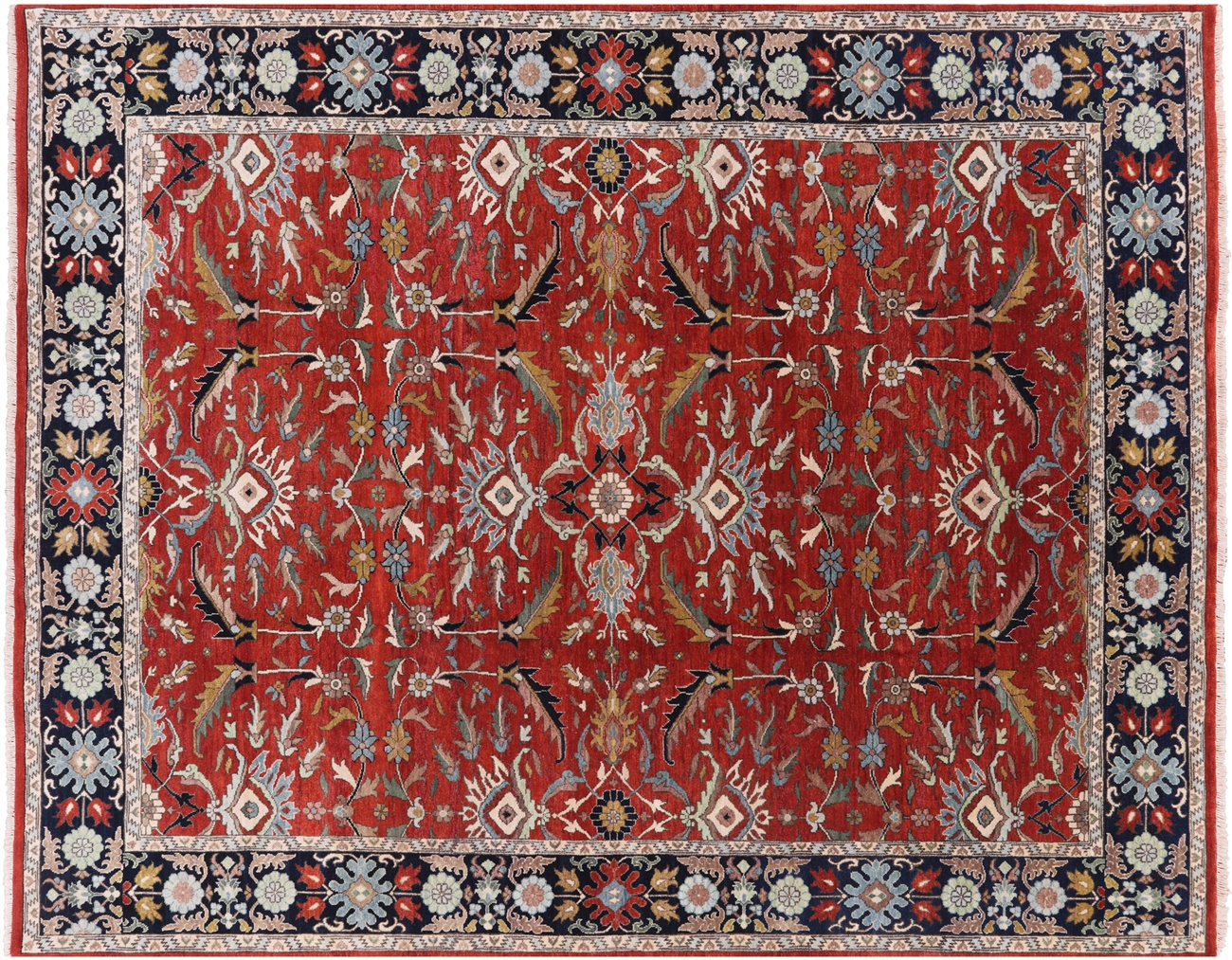 8 X 10 Fine Serapi Hand Knotted Oriental Rug