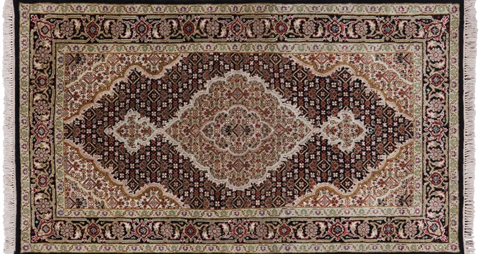 Persian Tabriz Wool & Silk Area Rug