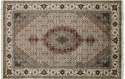 Wool & Silk Persian Hand Knotted Tabriz Rug