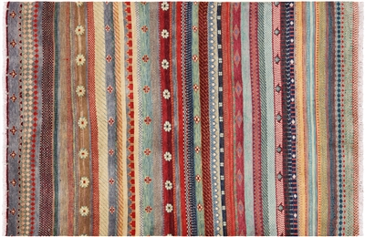 Super Gabbeh Hand Knotted Loribaft Area Rug
