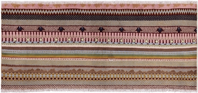 Runner Tribal Super Gabbeh Hand Knotted Rug