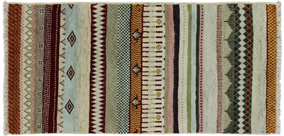 Oriental Super Gabbeh Hand Knotted Rug