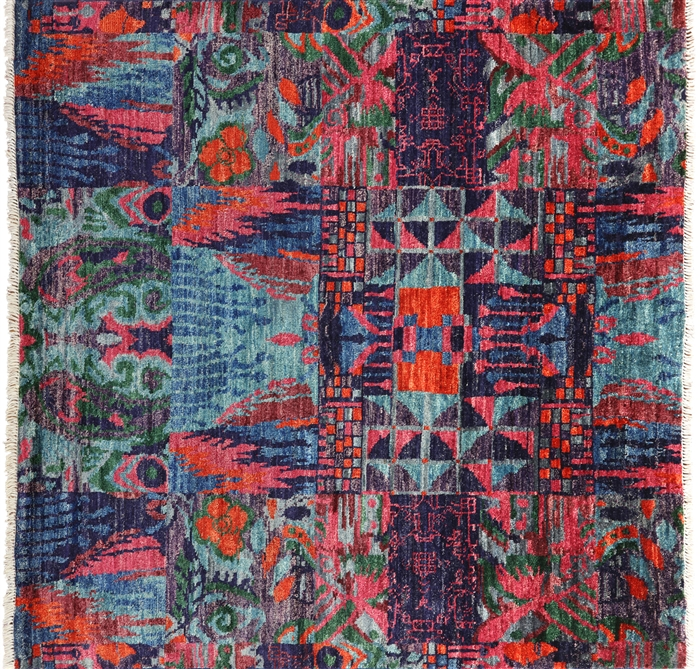 Square Arts & Crafts Hand Knotted Oriental Rug