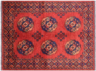 Oriental Wool on Wool Ersari Rug