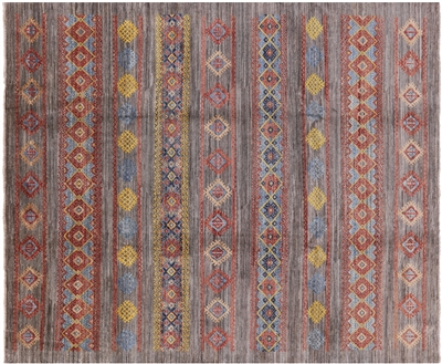 Peshawar Hand Knotted Navajo Design Area Rug