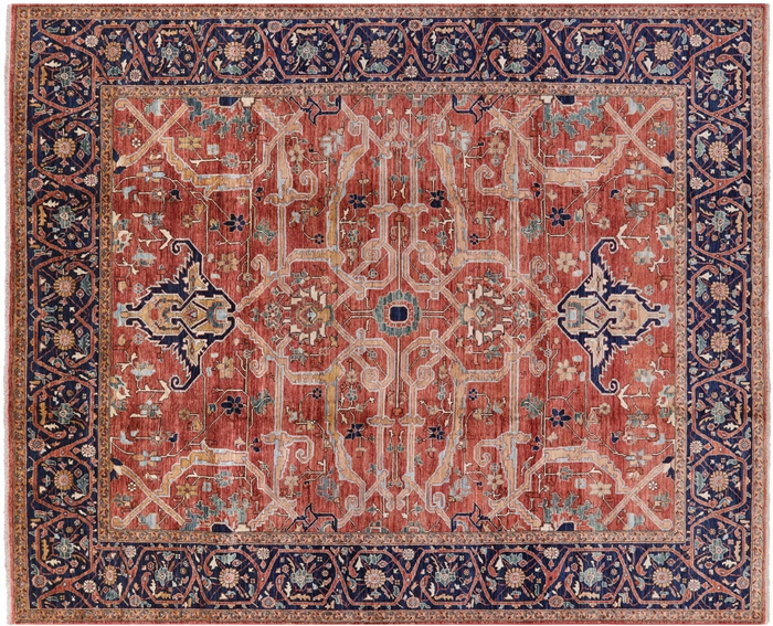 Fine Serapi Hand Knotted Oriental Wool Rug