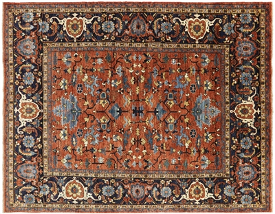 Hand-Knotted Wool Fine Serapi Rug
