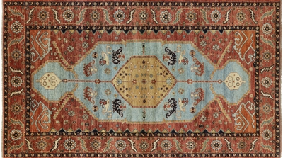 Hand-Knotted Fine Serapi Oriental Rug