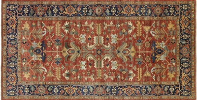 Oriental Fine Serapi Hand Knotted Wool Rug
