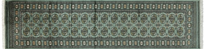 Runner Oriental Silky Bokhara Hand Knotted Rug