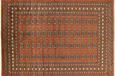 Hand Knotted Silky Bokhara Oriental Wool Rug