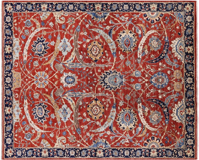 Hand Knotted Wool Fine Serapi Oriental Area Rug