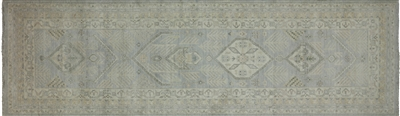 Runner White Wash Peshawar Hand Knotted Rug
