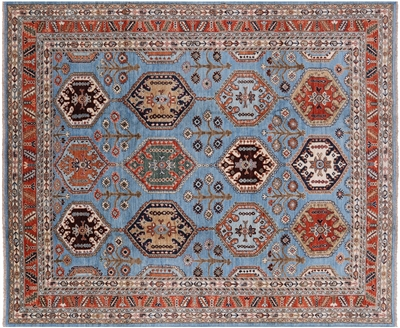 Oriental Hand Knotted Wool Fine Serapi Area Rug