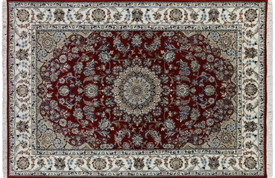 Persian Nain Wool & Silk Area Rug