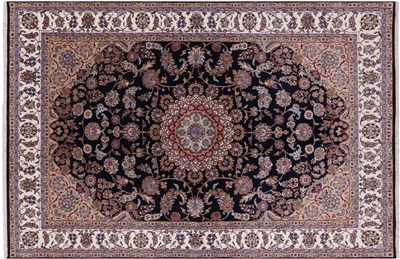 Persian Nain Wool & Silk Hand Knotted Rug