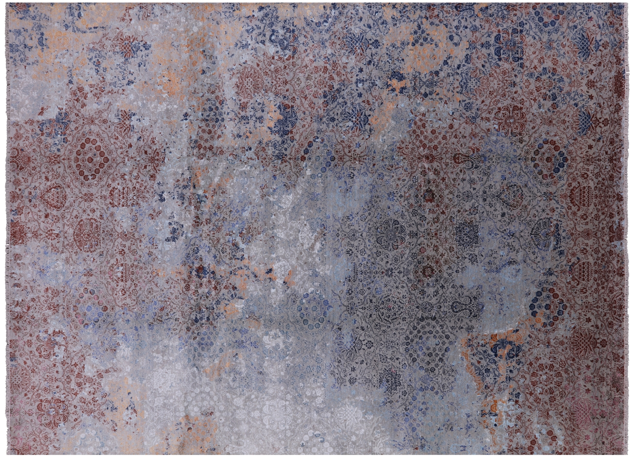 Hand Knotted Persian Wool Silk