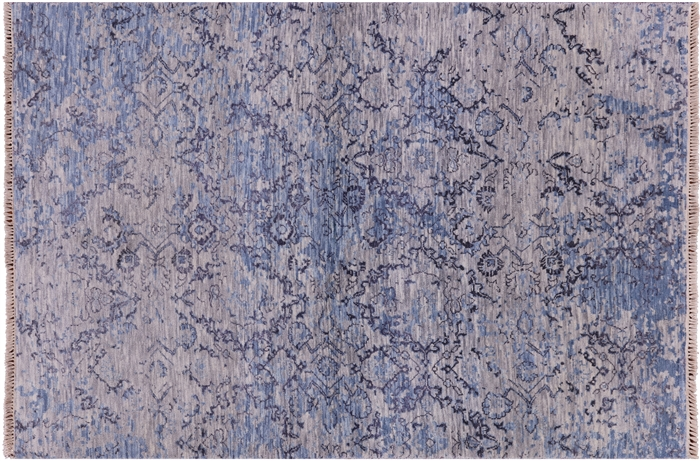 Modern Hand Knotted Wool Oriental Area Rug