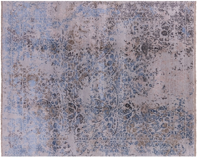 Modern Persian Wool & Silk Hand Knotted Area Rug