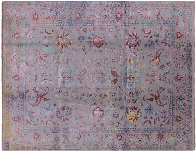 Persian Hand Knotted Wool & Silk Rug