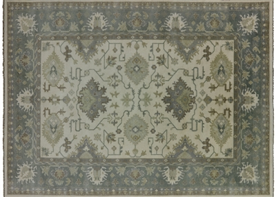 Oriental Hand Knotted Oushak Rug