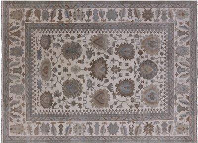 Tone On Tone Hand-Knotted Oushak Rug