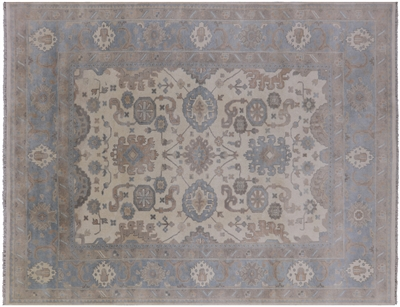 Hand Knotted Oushak Rug