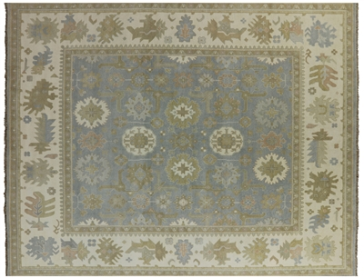 Traditional Oushak Oriental Hand Knotted Rug