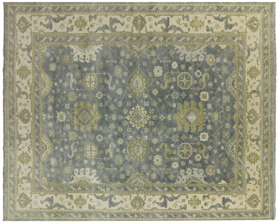 Oriental Oushak Hand Knotted Rug