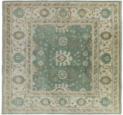 Square Traditional Oushak Area Rug