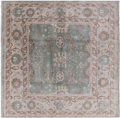 Square Oushak Hand Knotted Rug