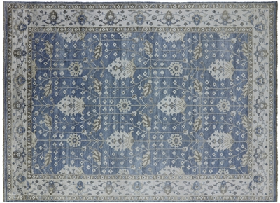 Hand Knotted Pure Silk William Morris Oriental Area Rug