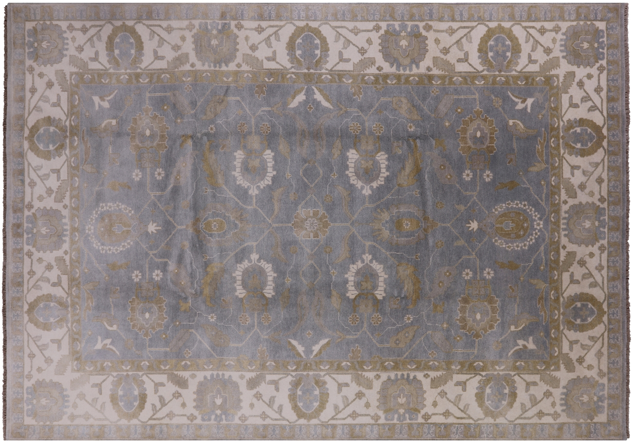 Oushak Hand Knotted Area Rug 9 11 X 14 3 P8437