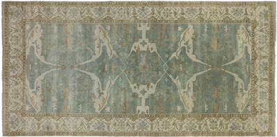 Oriental Oushak Hand Knotted Wool Rug